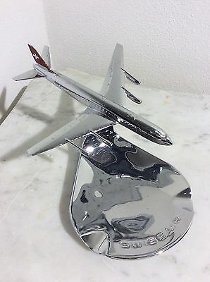 1960 Swiss Air Rarissimo Posacenere Buhler 6491 Model Dc-8 Airplane Ashtray