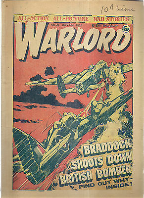 6 X Warlord Comics 1975, 1981/1982 Good Reading Condition