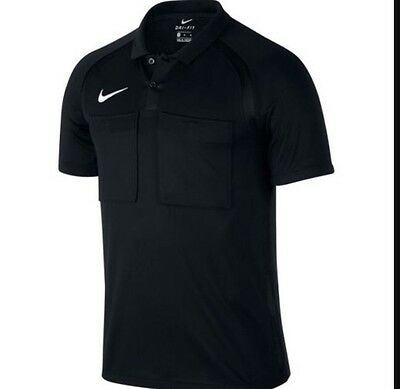 Nike Referee Shirt Jersey All Black Size XL Dri-Fit Brand New