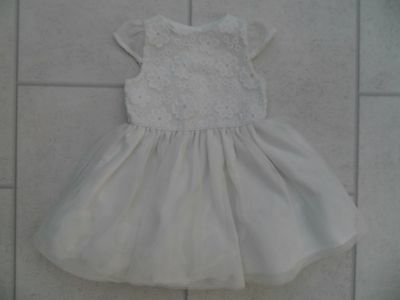 Beautiful Girls Primark Ivory Party Dress Age 9/12 Months VGC