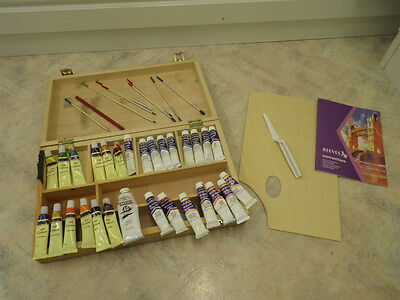 Reeves Boxed Beginners Artist Oil Painting Set pre used perfect introductory set
