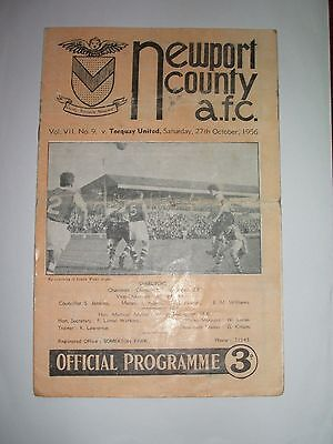 Newport  County  V  Torquay  United    27-10-1956