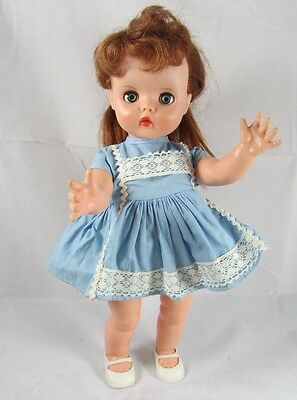 "Horsman Ruthie Doll Redhead T14 Vintage Vinyl 13"" w Dress Shoes"