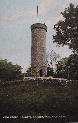 "Vintage Postcard. ""view Tower, Heights Of Abraham"", Matlock, Derbyshire"