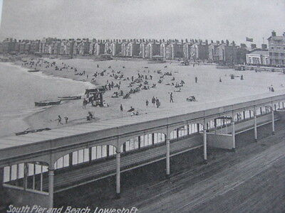 Vintage Postcard. South Pier And Beach, Lowestoft, Suffolk