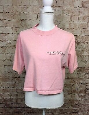 Vintage Hypercolor Genera Heat Sensitive Pink Cropped Tshirt Women's *stain