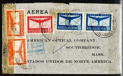 Argentina, 1944 to USA, cover with censor tape   (A567)