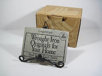Longaberger Small Wrought Iron Table top Maple Leaf Easel Stand 75604 W/ BOX