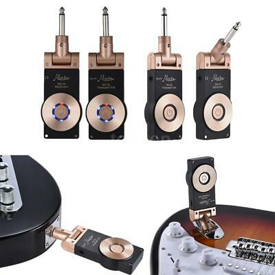 2.4G Wireless Electric Guitar Transmitter Receiver Set Rechargeable Hot D5W5