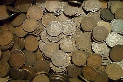 Indian Head Cent Penny Lot Collection old rare full date Good+ 10 nice coins!