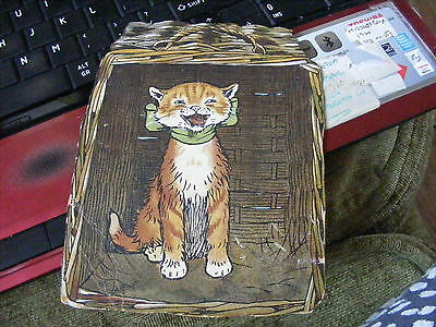 Vintage Comic CECIL ALDIN Cat Card Front writing on back