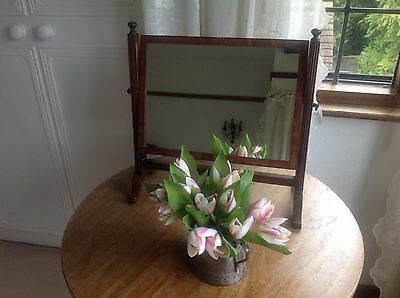 Pretty Vintage Mahogany Swing Frame Mirror - Small