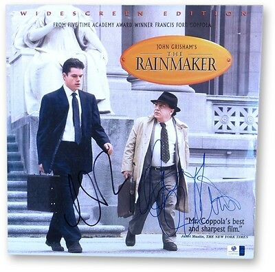 Matt Damon Danny DeVito Signed Autographed Laserdisc Cover The Rainmaker 865955