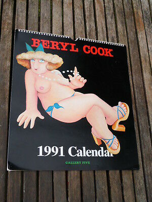 Lovely Collectable Beryl Cook Calendar 1991.