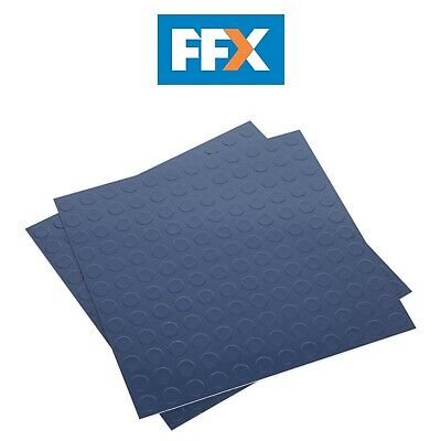 Sealey FT2B Vinyl Floor Tile with Peel & Stick Backing - Blue Coin Pack of 16