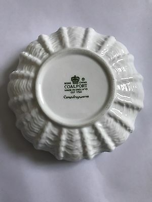 Coalport Countryware white collection shell shape  Trinket dish