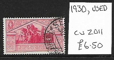 (257c) ITALY, Used Stamp, 1930, Cat val 2011 £6.50