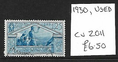 (258c) ITALY, Used Stamp, 1930, Cat val 2011 £6.50