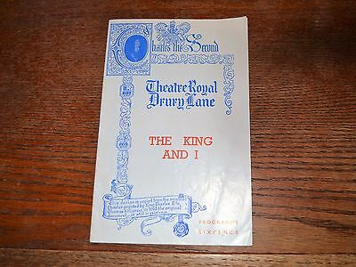 Vintage 1953 Playbill The King And I Theatre Royal Drury Lane London England