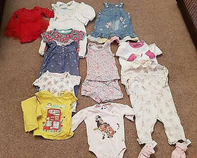 Baby Girls Bundle Rompers Dresses Shorts Sleepsuits Joules Ted Baker Next 6-9 M