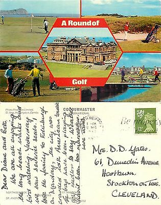 a1378 Golf course, St Andrews, Fife, Scotland postcard posted 1980 stamp