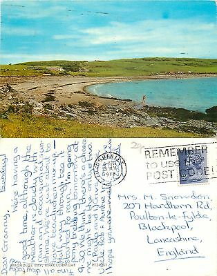 a1387 Brighouse Bay, Kirkcudbright, Scotland postcard posted 1978 stamp