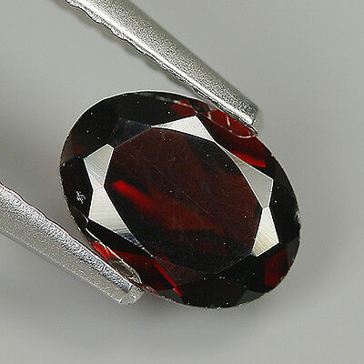 Superb 1.29 Ct Natural Africa ALMANDINE RED GARNET Oval Gemstone !!