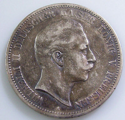 1888 A XF Germany Prussia 5 Mark Silver German Coin Low Mint