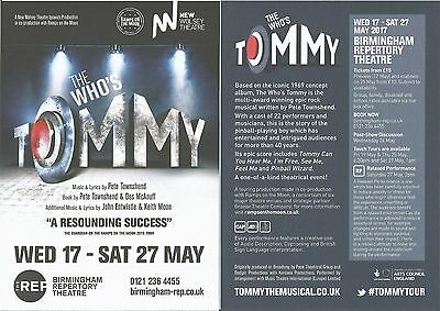 The Who's Tommy (Musical by The Who / Pete Townshend) Birmingham 2017  Flyer x 3