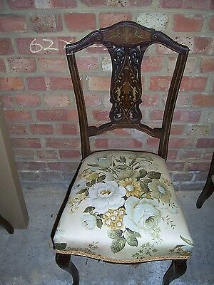 Inlaid Victorian Dining/Occasional chairs. Set of Four