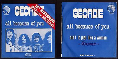 Geordie Disco 45 Giri All Because Of You - Ita Emi