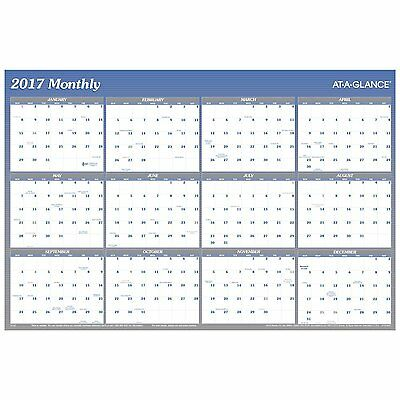 AT-A-GLANCE Wall Planner Calendar 2017, Erasable, Reversible, Yearly, Quarterly,