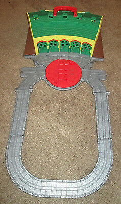 Thomas & Friends Take N Play Shed Tidmouth Station Fold Up Carry Train Track