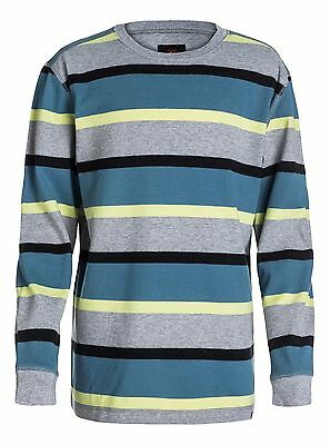 Quiksilver NEW Gray Yellow Boys Size XL Striped Pullover Sweater $39 #897