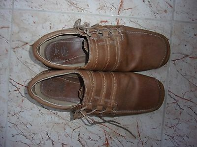 RUSHU Mens Tan Leather Casual Shoes Size 44 EU - 10 UK
