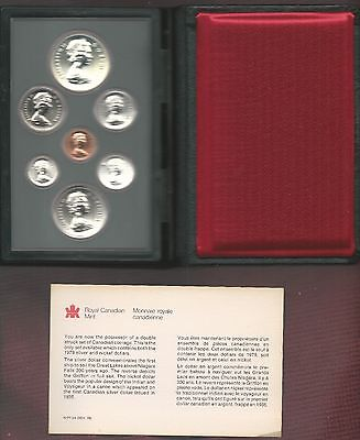 Royal Canadian Mint 1979 Proof Set In Original Case Double Dollar 7 Coin Set COA