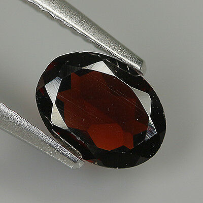 Pretty 1.09 Ct Natural Africa ALMANDINE RED GARNET Oval Gemstone !!