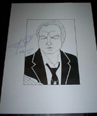 JIMMY LEE SWAGGART Pentecostal Televangelist Signed 8.5x11 Cartoon Autograph a