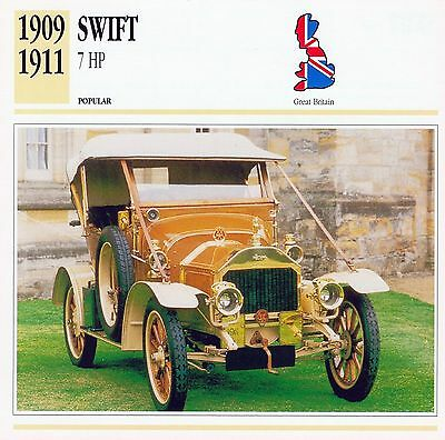 1909-1911 SWIFT 7 HP collector card.