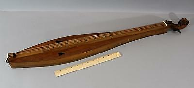 Vintage Handmade Country Dulcimer w/ Hearts Ready to Play  No Reserve