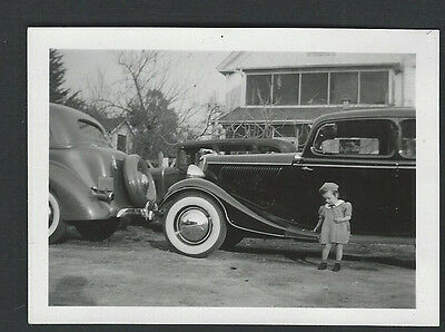 Kid By A 1934 Ford, 1935/1936 Ford & A 1930/1931 Model A Ford, Flathead