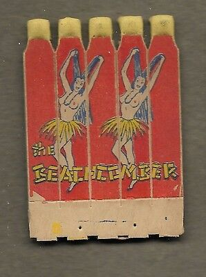 Girlie Hula Skirts Feature Matchbook Comb Lot Cc6