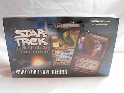 Star Trek Ccg 2E What You Leave Behind Complete Sealed Box Of 30 Booster Packs