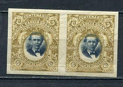 Guatemala 1910 Sc 140 MNH Imperf Pair Shifted Center Gen. Miguel Garcia Granados