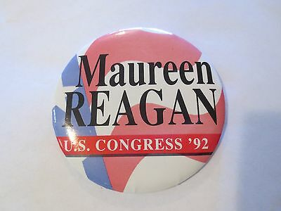 Celluloid Pinback for Maureen Reagan for Congress in California in 1992