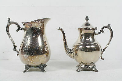 2 Piece Vintage WB Rogers Silverplate Teapot And Water Pitcher Set