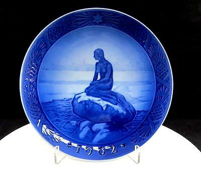 "Royal Copenhagen Little Mermaid At Wintertime 7 1/8"" Christmas Plate 1962"