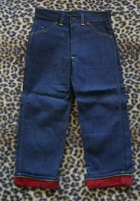 NOS 50's Vintage JJ NEWBERRY Sanforized BRONCO Flannel Line Denim Jeans Sz 8 NWT