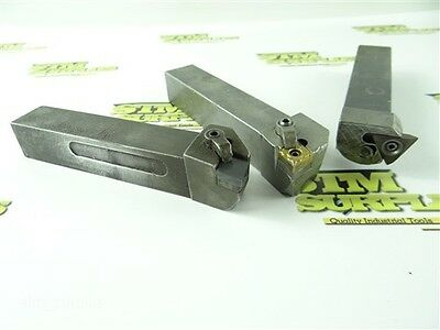 """Lot Of 3 Indexable Tool Holders 1"""" Shanks Kennametal & Carboloy"""