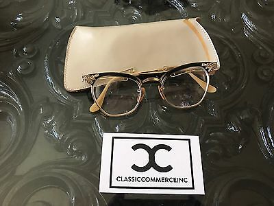 Nice Vintage Eye Glasses B & L Bausch and Lomb 1/10 12K GF Cat Eye CATEYE